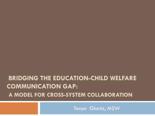 Bridging the Education-Child Welfare Communication Gap: A model for cross-system collaboration