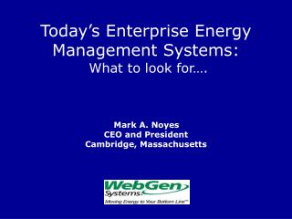 Enterprise Energy Management