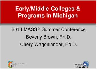 Early/Middle Colleges & Programs in Michigan