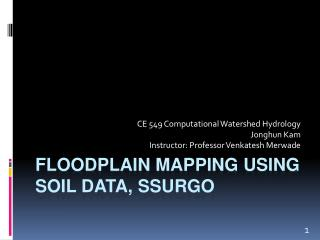 Floodplain mapping using soil data,  ssurgo