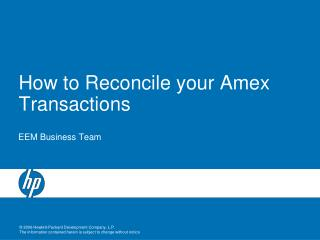 How to Reconcile your Amex Transactions