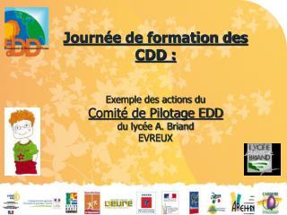 Journée de formation des CDD : Exemple des actions du