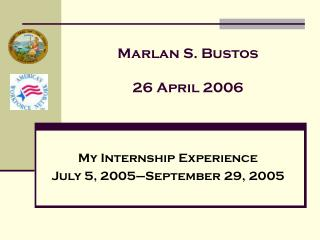Marlan S. Bustos 26 April 2006