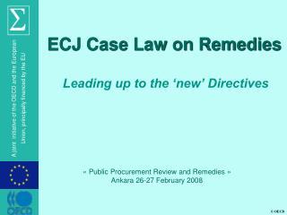 ECJ Case Law on Remedies