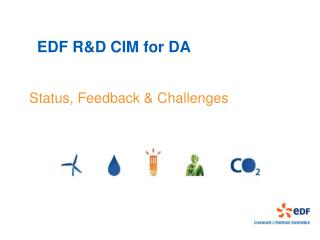 EDF R&D CIM for DA