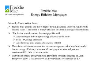 Freddie Mac Energy Efficient Mortgages