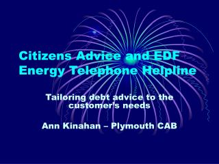 Citizens Advice and EDF Energy Telephone Helpline