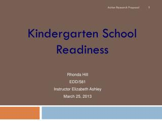 Kindergarten School Readiness