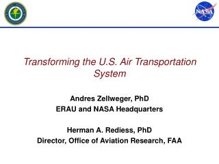 Transforming the U.S. Air Transportation System