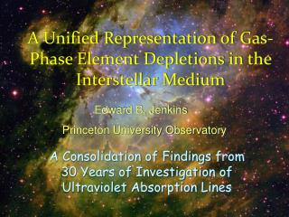 A Unified Representation of Gas-Phase Element Depletions in the Interstellar Medium