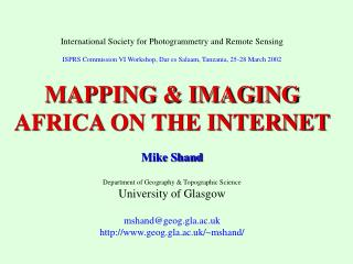 International Society for Photogrammetry and Remote Sensing
