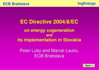 EC Directive 2004/8/EC  on energy cogeneration  and  its implementation in Slovakia