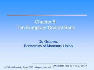 Chapter 8: The European Central Bank