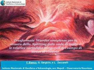 F. Bianco , G. Gargiulo, e L.  Zaccarelli