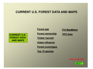 CURRENT U.S. FOREST DATA AND MAPS