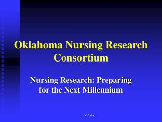 Oklahoma Nursing Research Consortium
