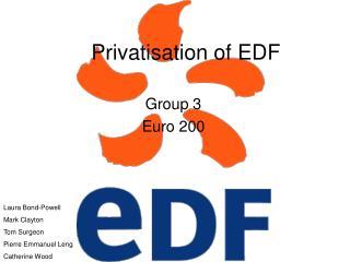 Privatisation of EDF
