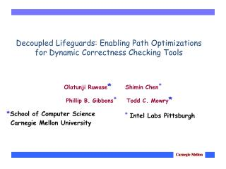 Decoupled Lifeguards: Enabling Path Optimizations for Dynamic Correctness Checking Tools