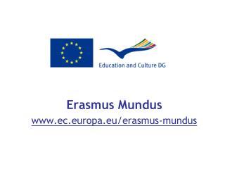 Erasmus Mundus ec.europa.eu/erasmus-mundus