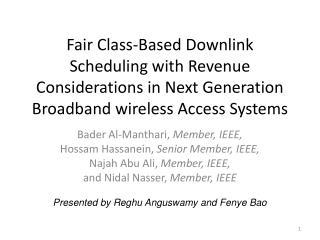 Bader Al- Manthari ,  Member, IEEE, Hossam Hassanein ,  Senior Member, IEEE,
