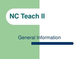 NC Teach II