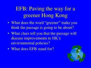 EFB: Paving the way for a greener Hong Kong