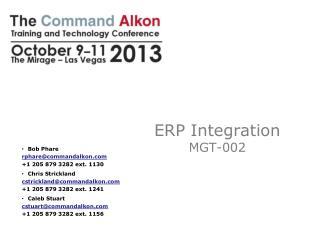 ERP  Integration MGT-002