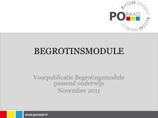 BEGROTINSMODULE