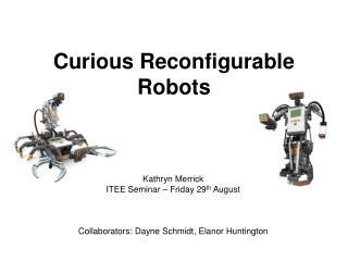Curious Reconfigurable Robots