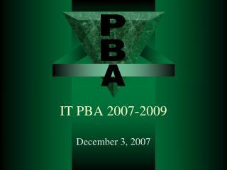 IT PBA 2007-2009