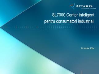 SL7000 Contor inteligent  pentru consumatori  industriali
