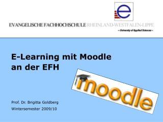 E-Learning mit Moodle  an der EFH