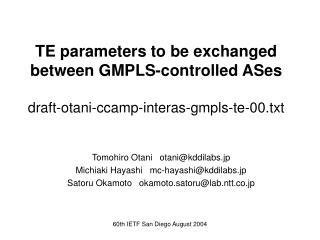 Tomohiro Otani   otani@kddilabs.jp Michiaki Hayashi   mc-hayashi@kddilabs.jp