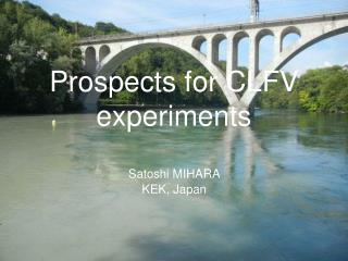 Prospects for CLFV experiments
