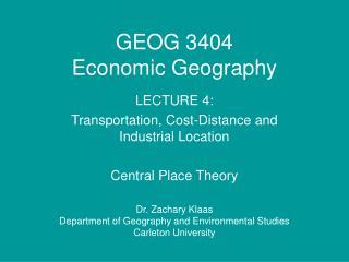 GEOG 3404 Economic Geography