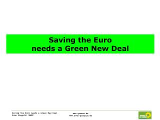 Saving the Euro  needs a Green New Deal