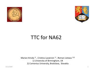 TTC for NA62