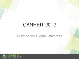 CANHEIT 2012