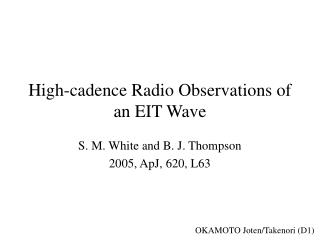 High-cadence Radio Observations of an EIT Wave