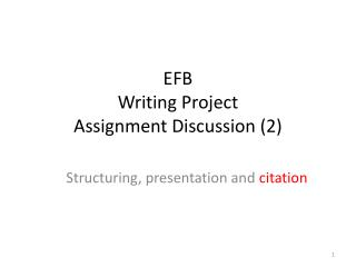 EFB Writing Project Assignment Discussion (2)