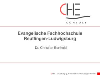 Evangelische Fachhochschule Reutlingen-Ludwigsburg