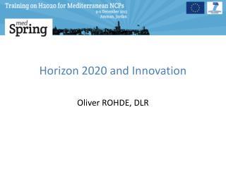 Horizon 2020 and Innovation
