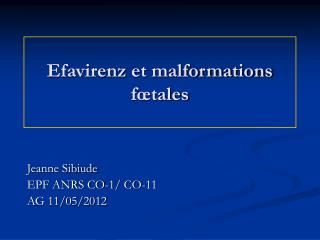Efavirenz et malformations fœtales