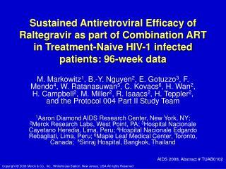 In Vitro  Activity of Raltegravir (MK-0518)