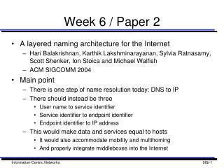 Week 6 / Paper 2
