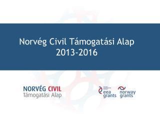 Norvég Civil Támogatási Alap 2013-2016