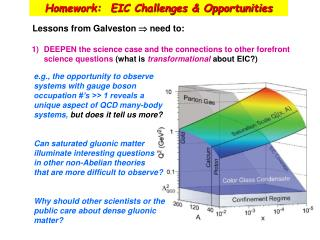 Homework:  EIC Challenges & Opportunities