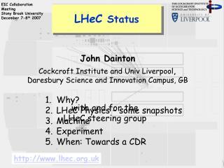 LH e C  Status