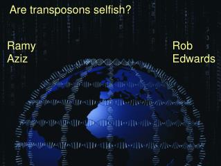 Are transposons selfish?