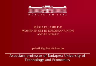 Associate professor of  Budapest University of Technology and Economics